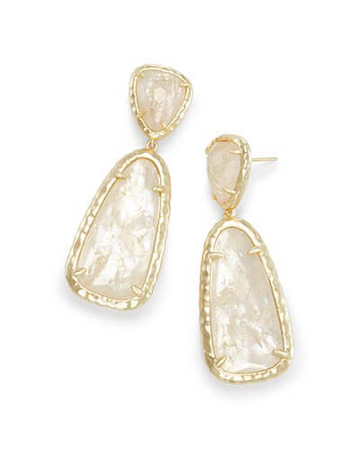 Daria Statement Earrings in Crystal Ivory Illusion