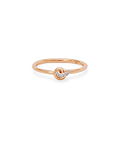 Love Knot 14K Gold Band Ring in White Diamond