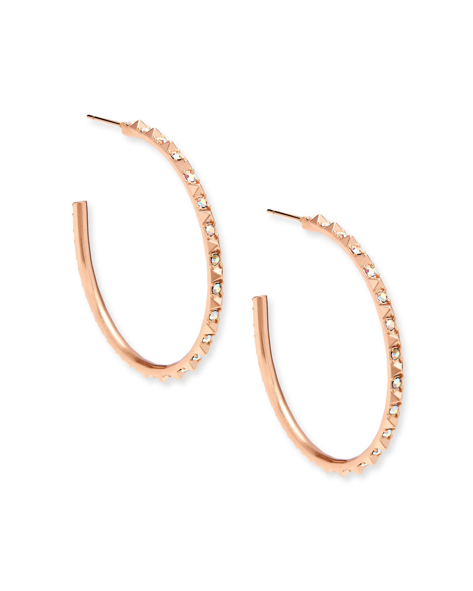 Veronica Hoop Earrings in Rose Gold