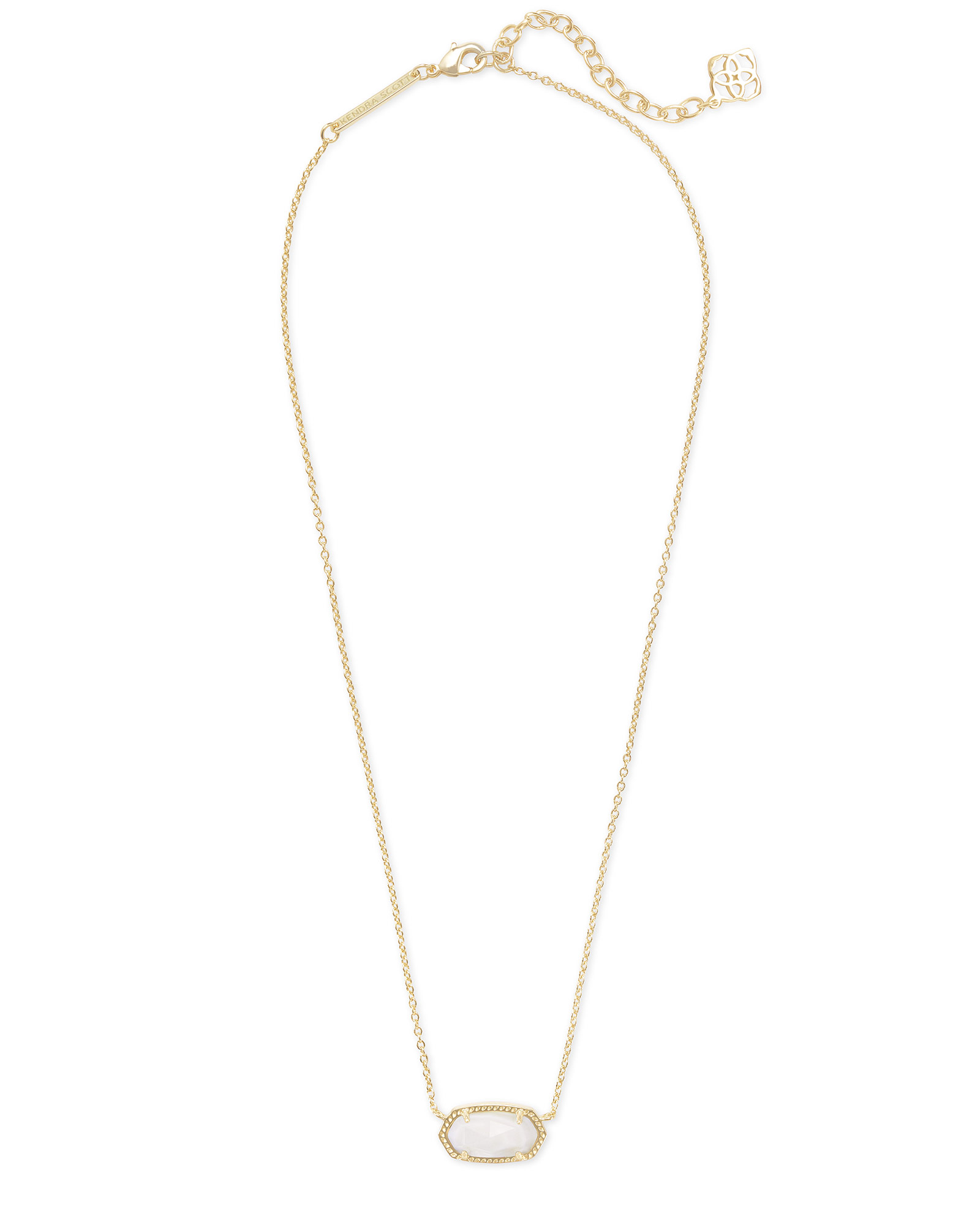 693063ad7cb Elisa Gold Pendant Necklace in White Mother-of-Pearl | Kendra Scott