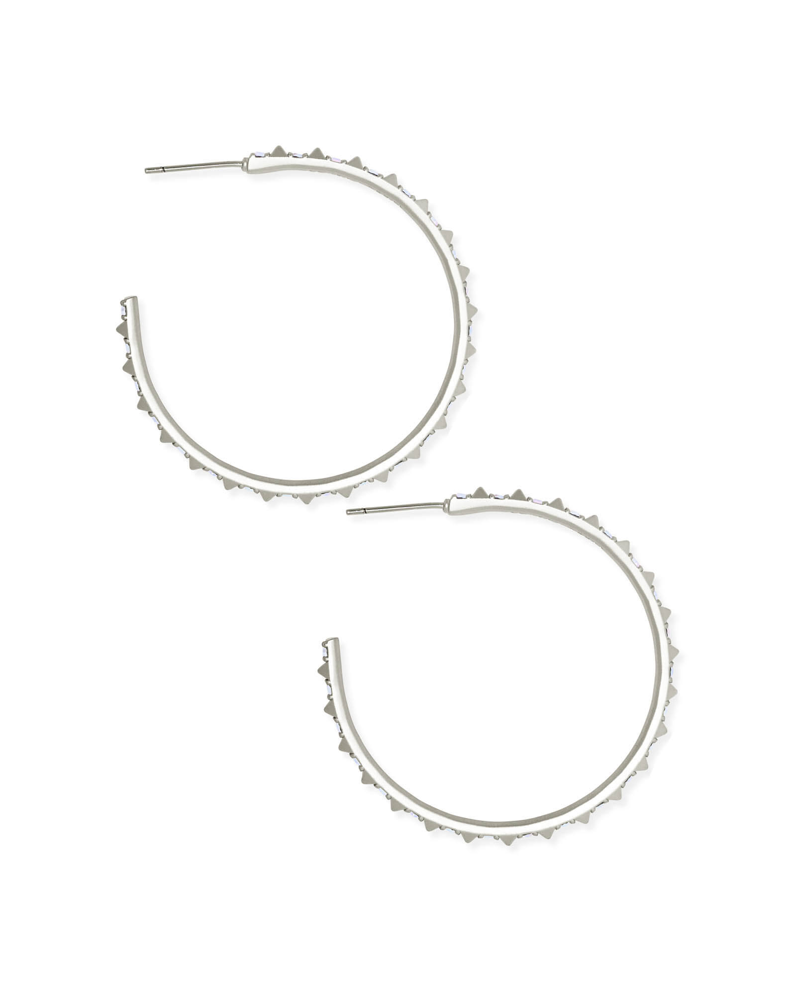 Veronica Hoop Earrings in Silver
