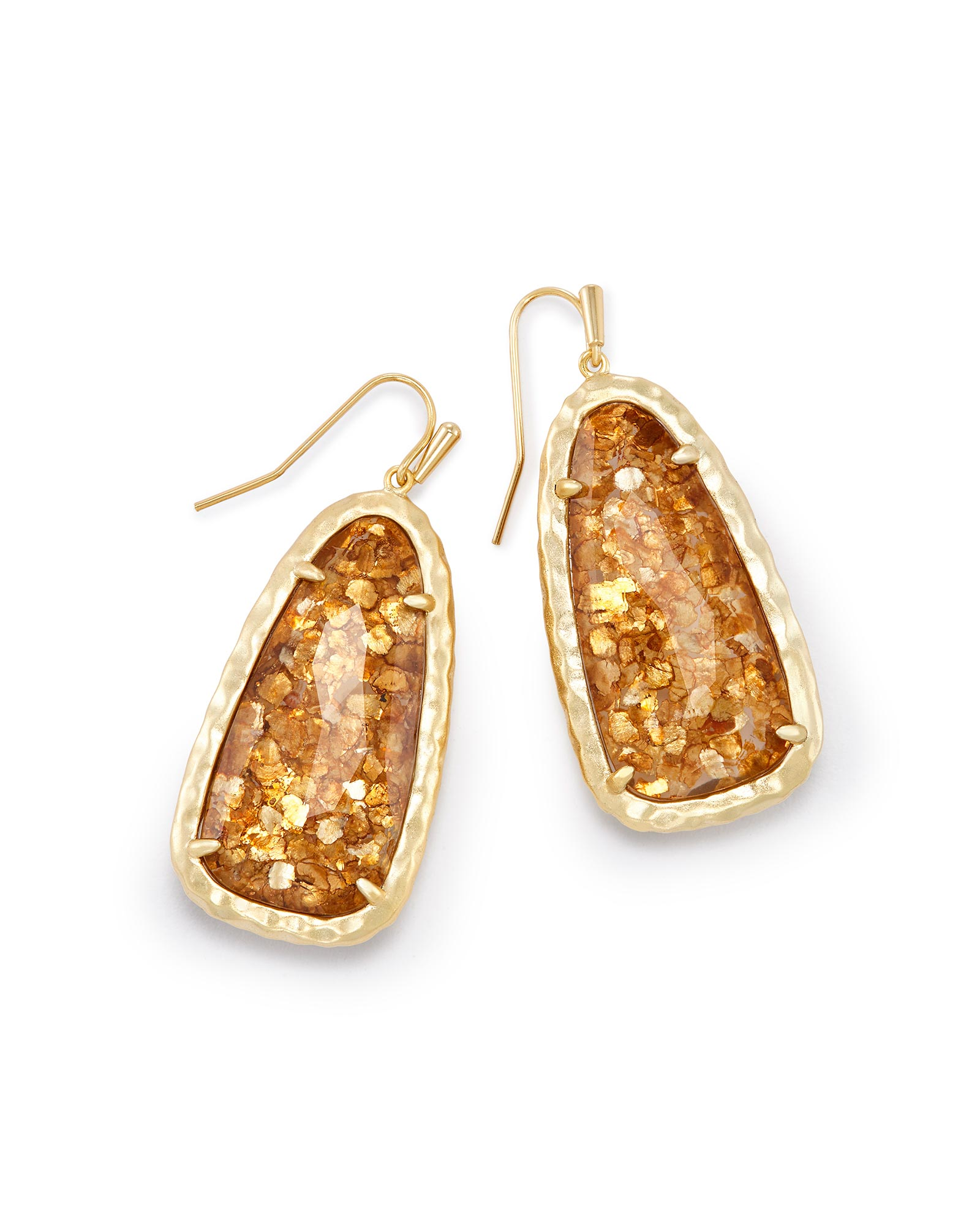 Lyn Drop Earrings in Crushed Gold Mica