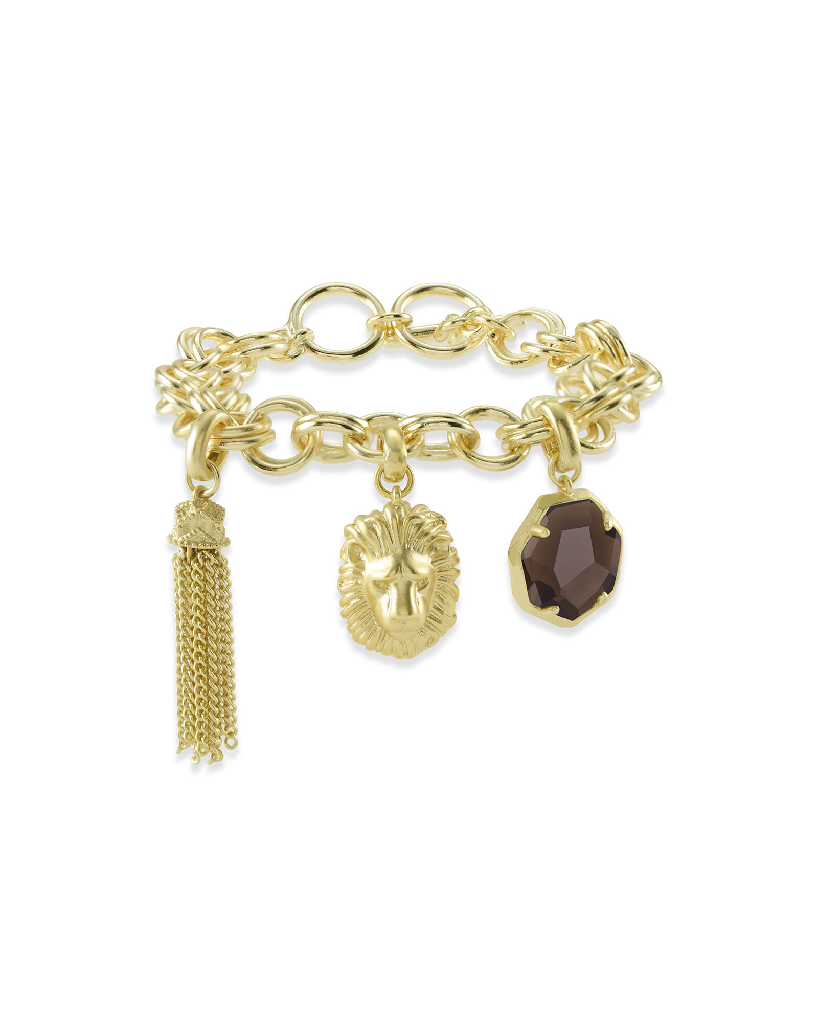 Charm Bracelet Jewelry: Fierce Charm Bracelet Set In Gold