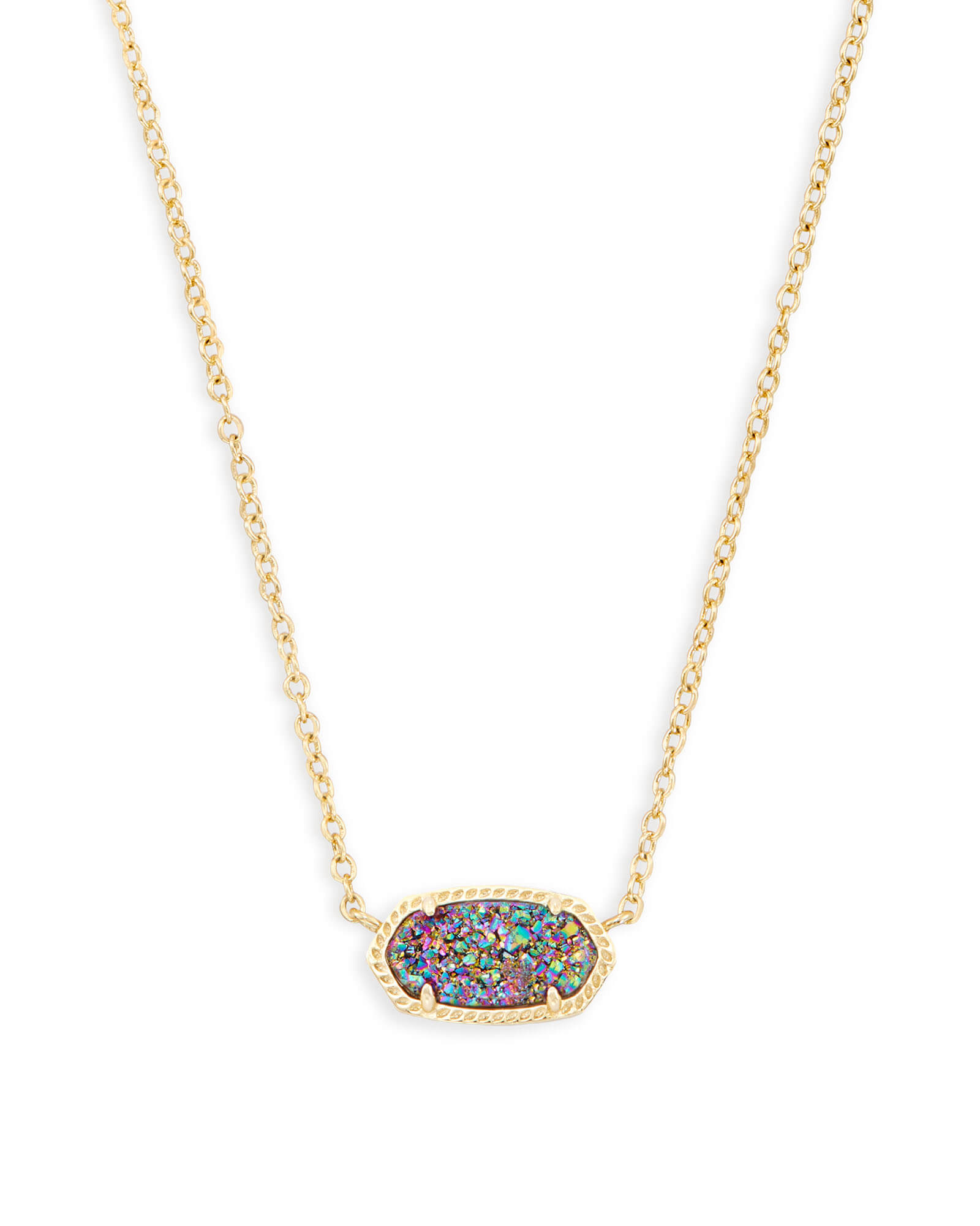 Elisa Pendant Necklace in Multicolor Drusy