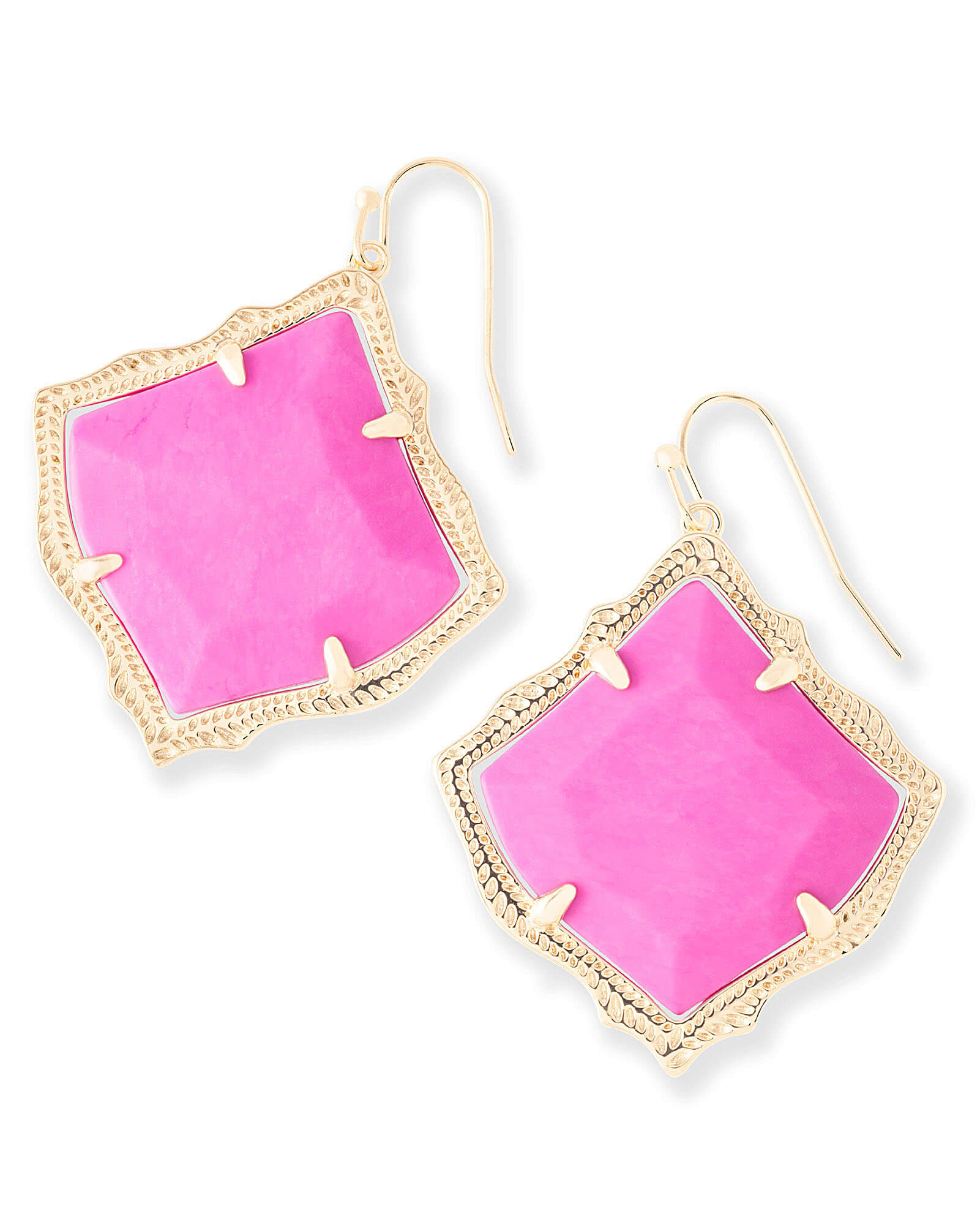 d44c20af457010 Kirsten Drop Earrings in Magenta | Kendra Scott Jewelry