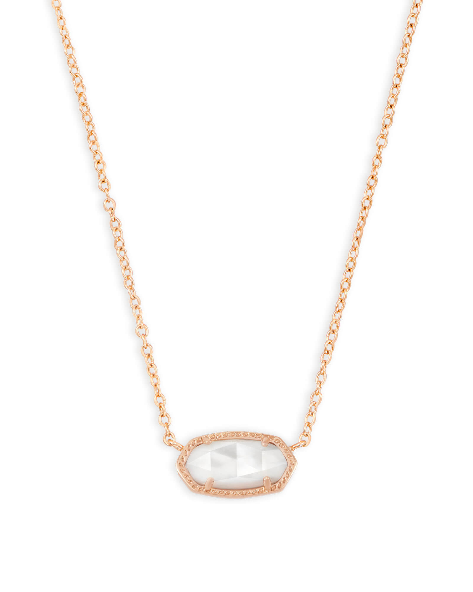 Elisa rose gold pendant necklace ivory pearl kendra scott elisa rose gold pendant necklace in ivory pearl aloadofball Image collections