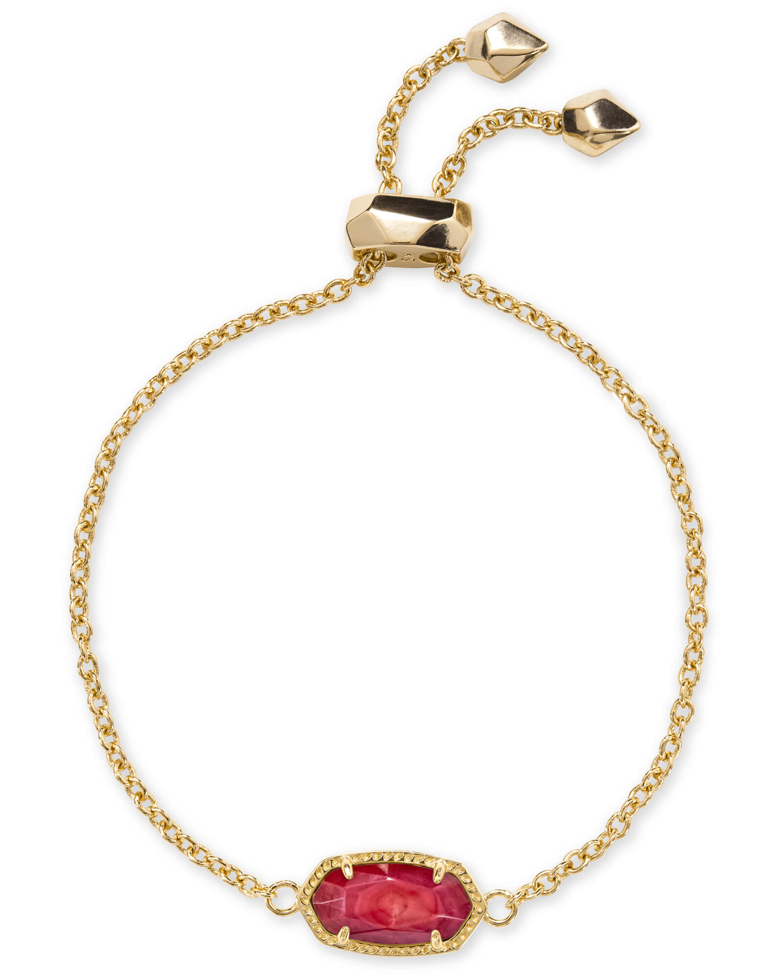 Elaina Gold Chain Bracelet in Red Mother-of-Pearl