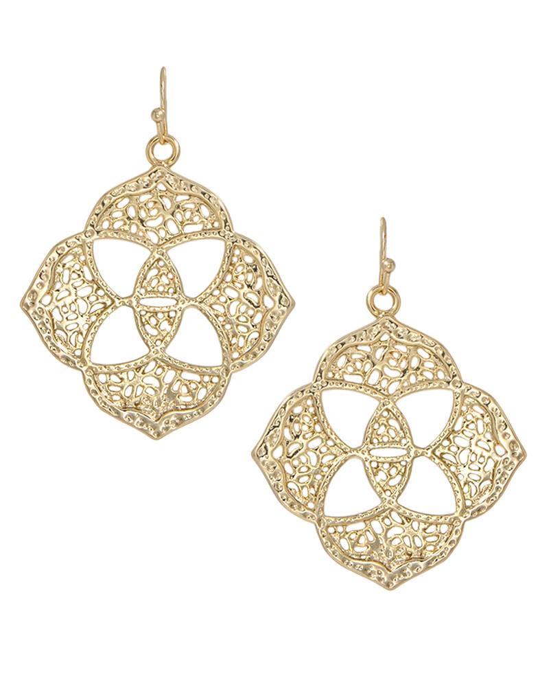 Dawn Medallion Earrings In Gold