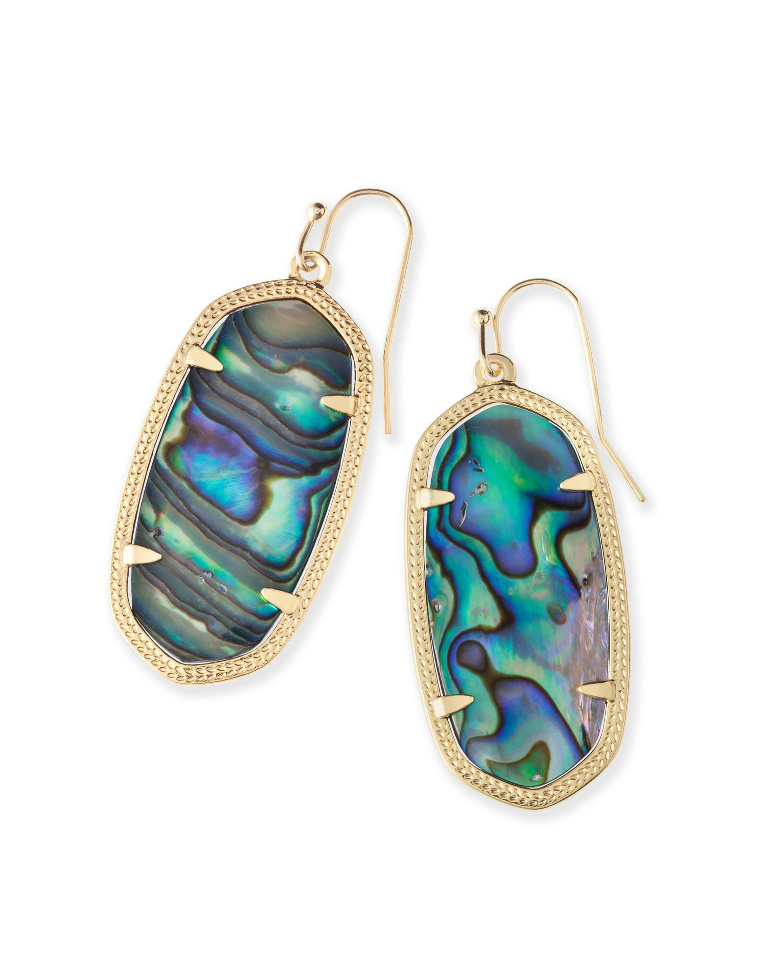 Elle Gold Drop Earrings Abalone Shell Kendra Scott