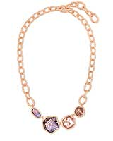 Natalia Rose Gold Statement Necklace in Peach Mix