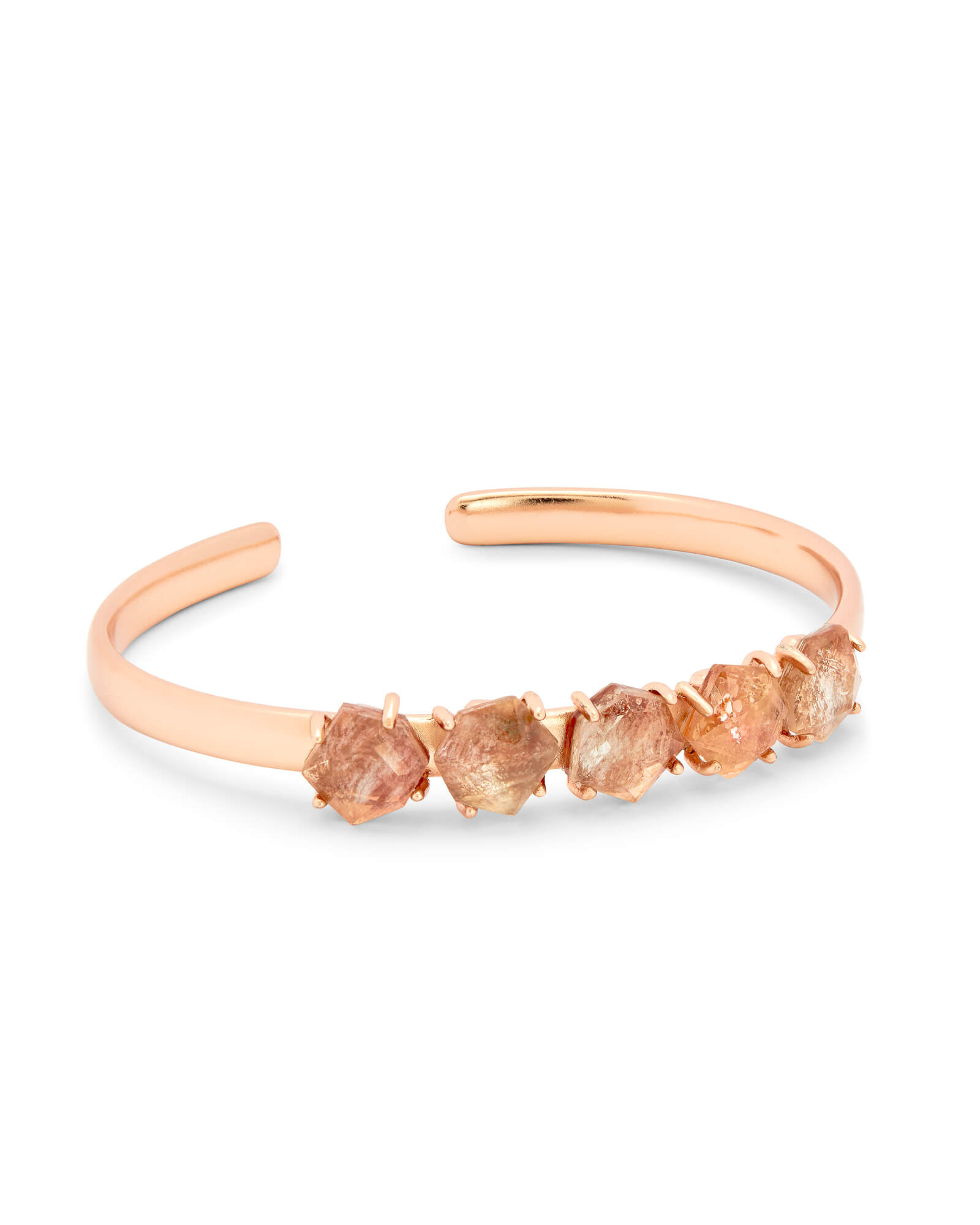 Nash Rose Gold Adjustable Bracelet in Sable Mica