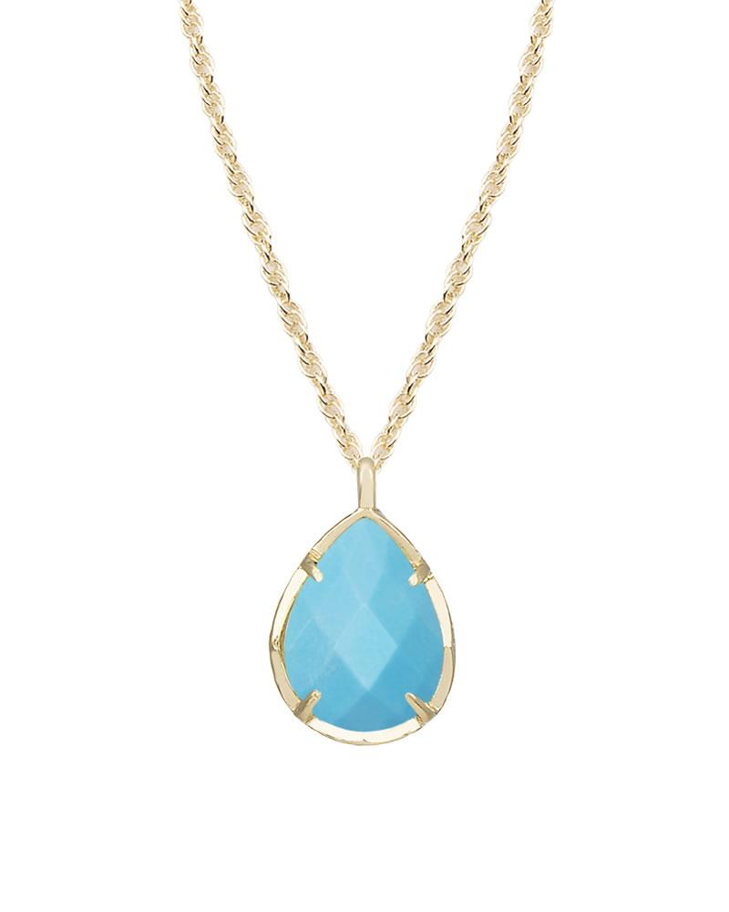 Kiri gold pendant necklace in blue turquoise kendra scott for Kendra scott fine jewelry