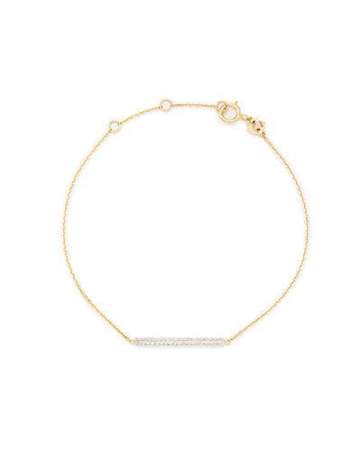 df0d851d8168 Quick View · Saved! River 14k Yellow Gold Chain Bracelet In White Diamonds