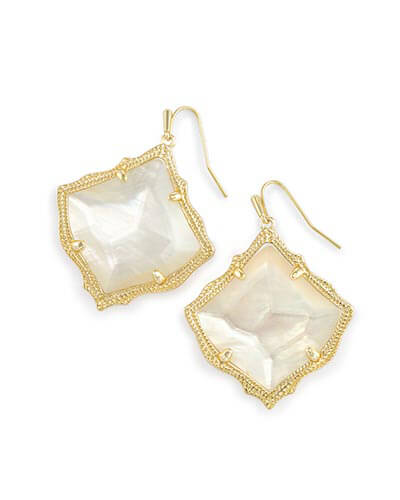 Kirsten Drop Earrings in Ivory Pearl