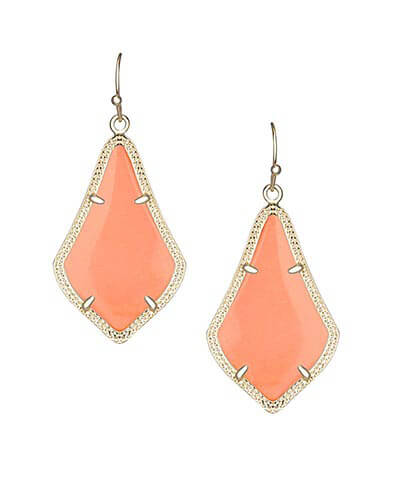 Alex Earrings in Coral