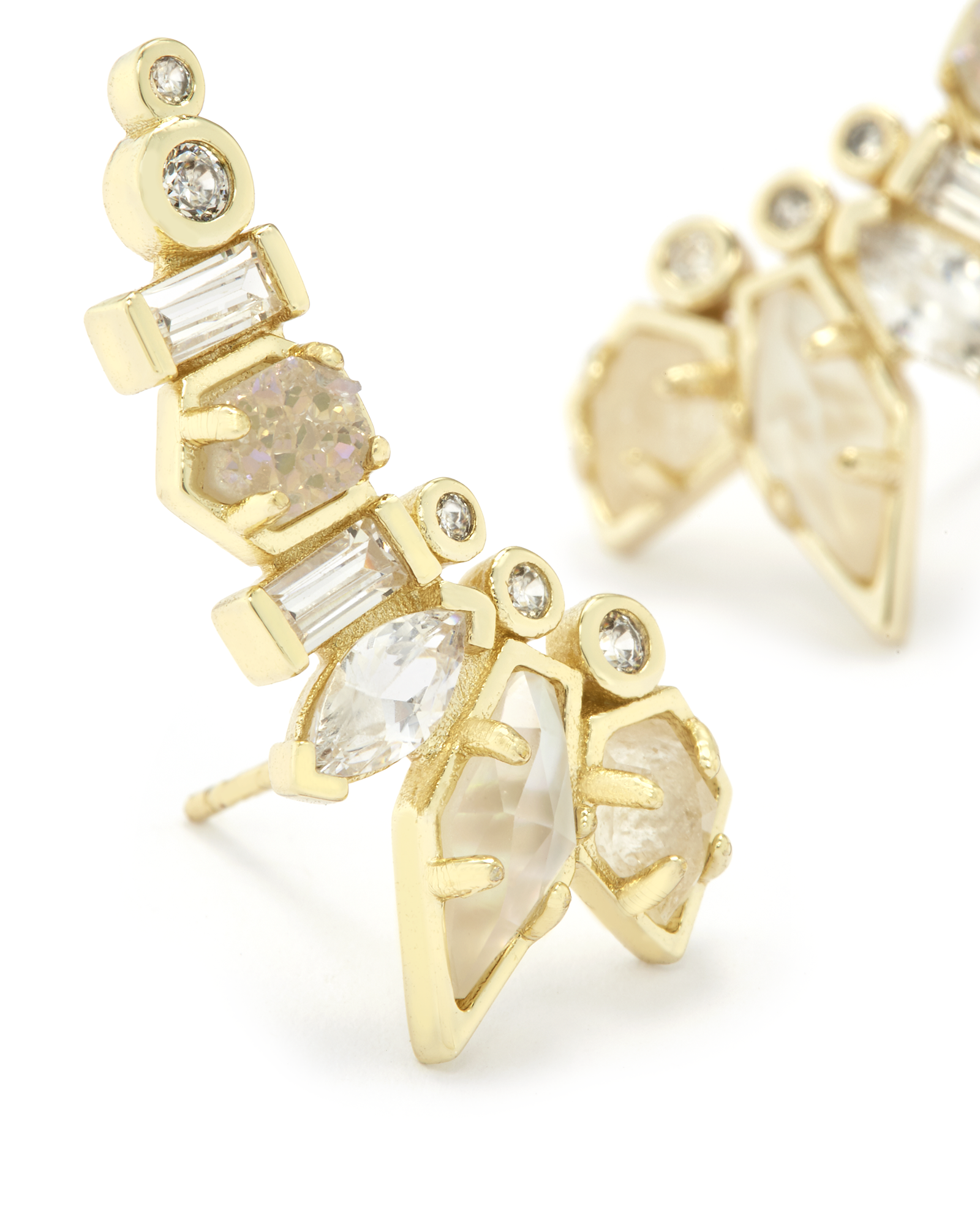 Ashlyn Ear Climbers in Gold