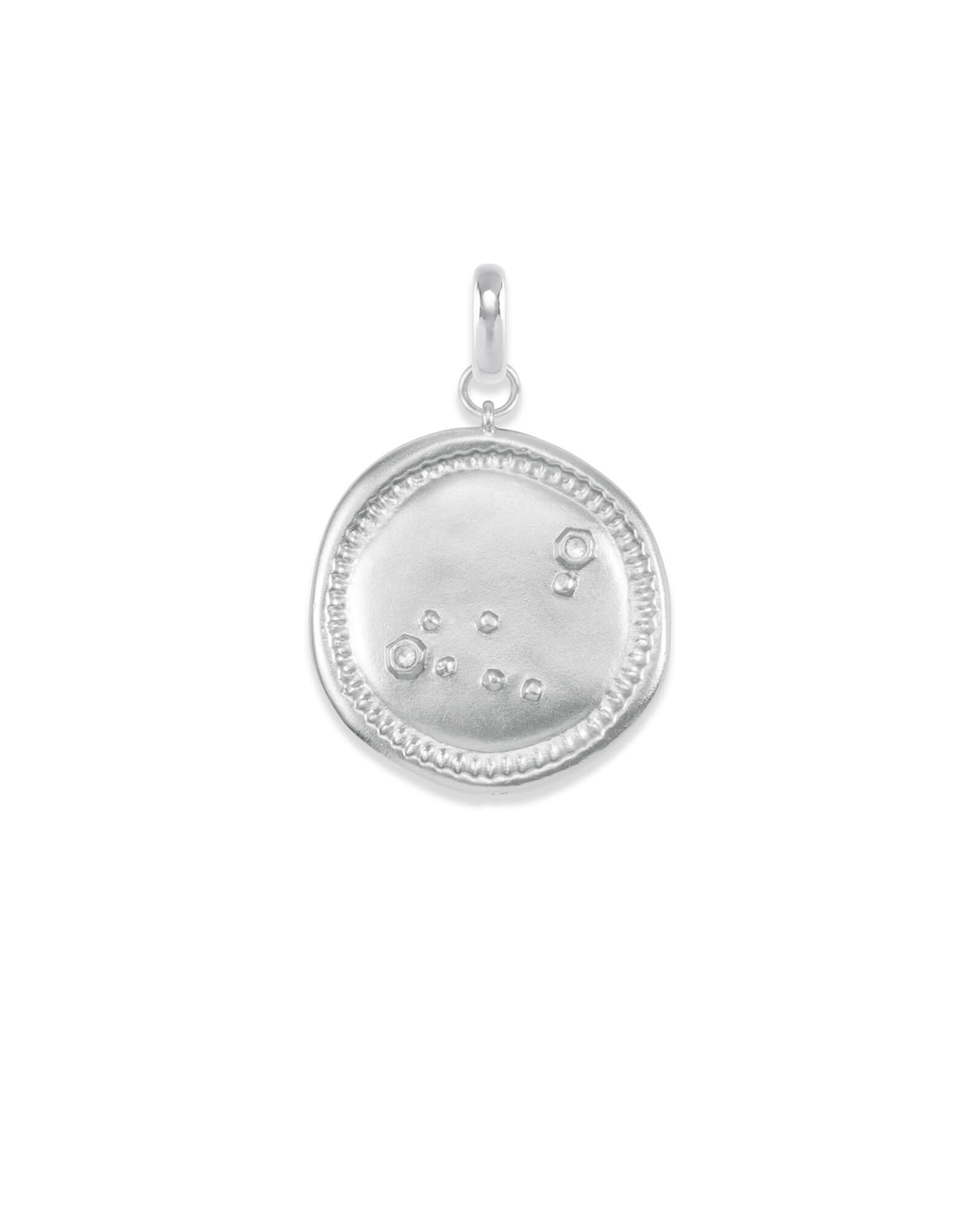 Capricorn Coin Charm in Silver