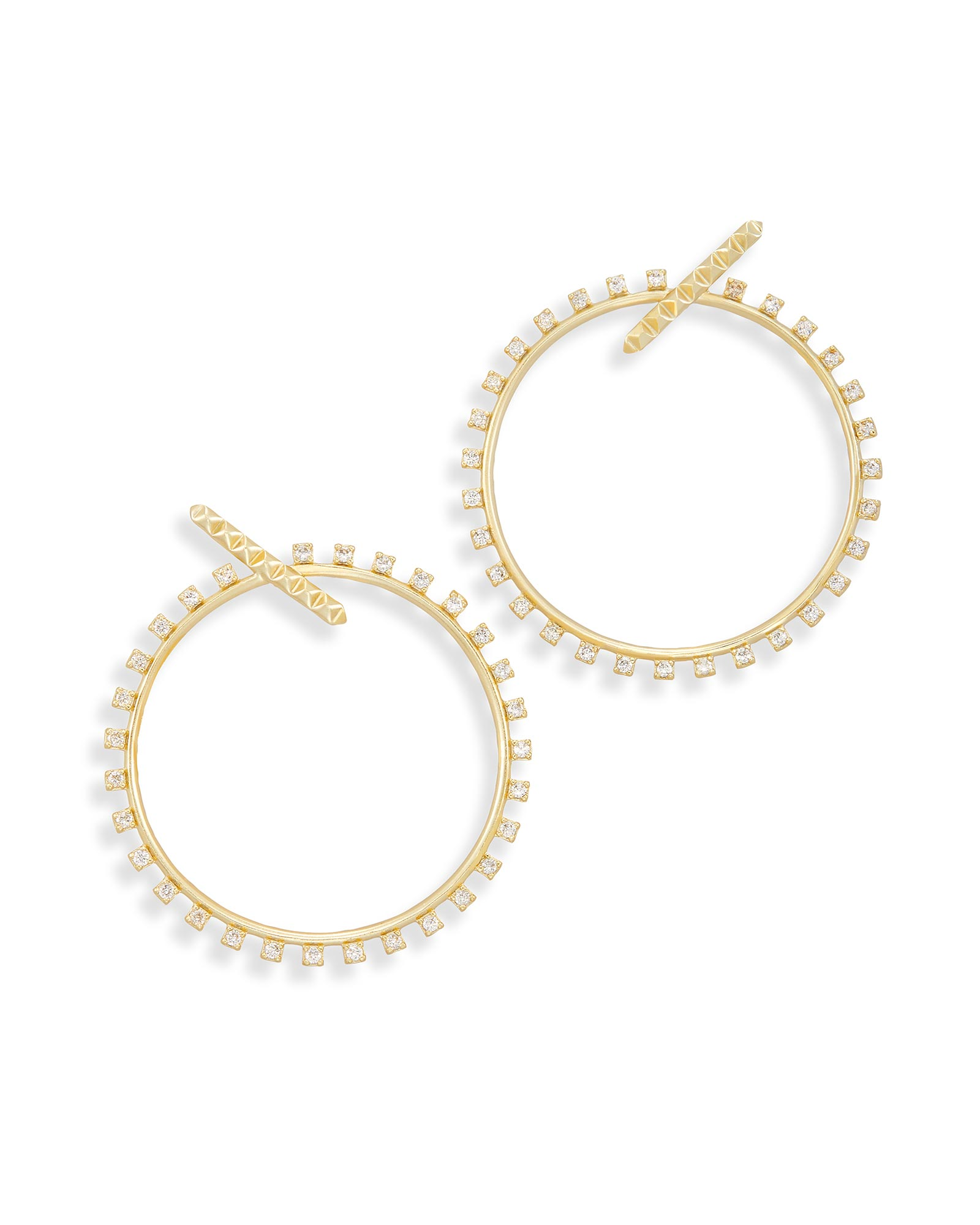 Charlie Grace Hoop Earrings in Gold