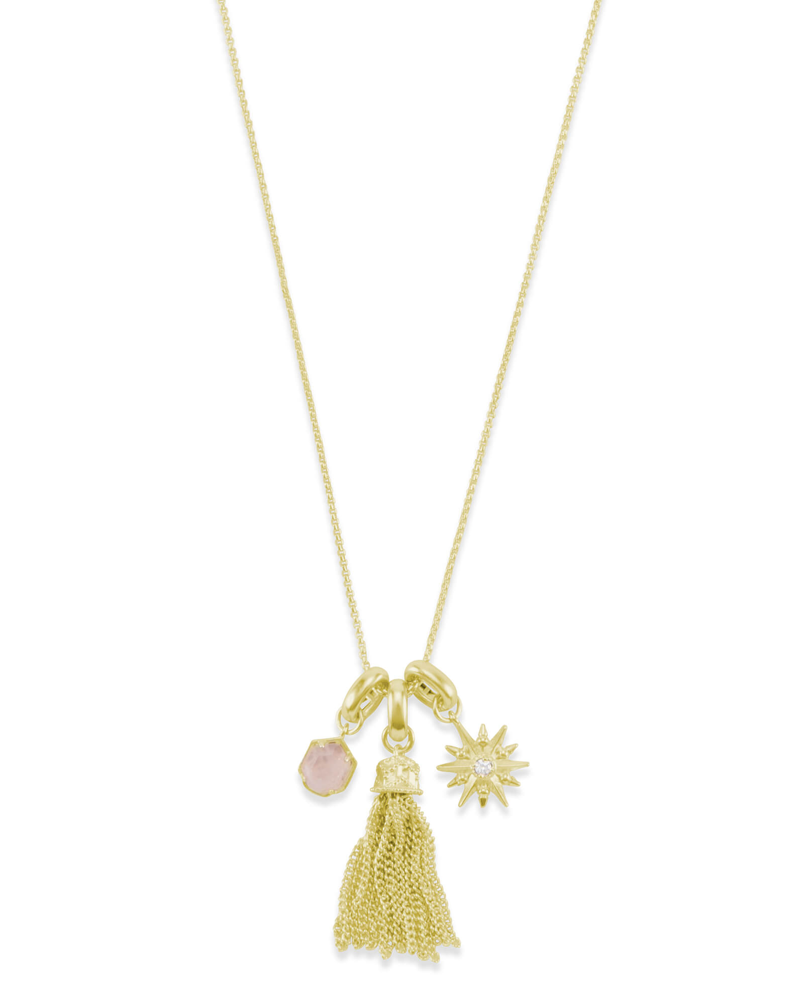 Love & Light Charm Necklace Set in Gold