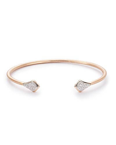 Alexi Pinch Bracelet in Pave Diamond and 14k Rose Gold