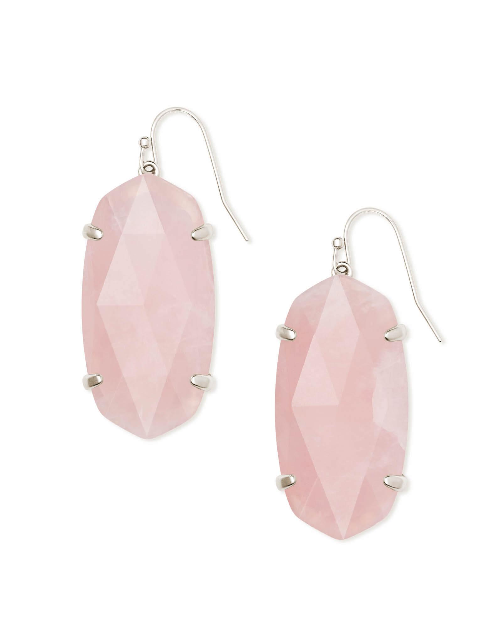 b8dd4bb95 Esme Silver Drop Earrings In Rose Quartz   Kendra Scott