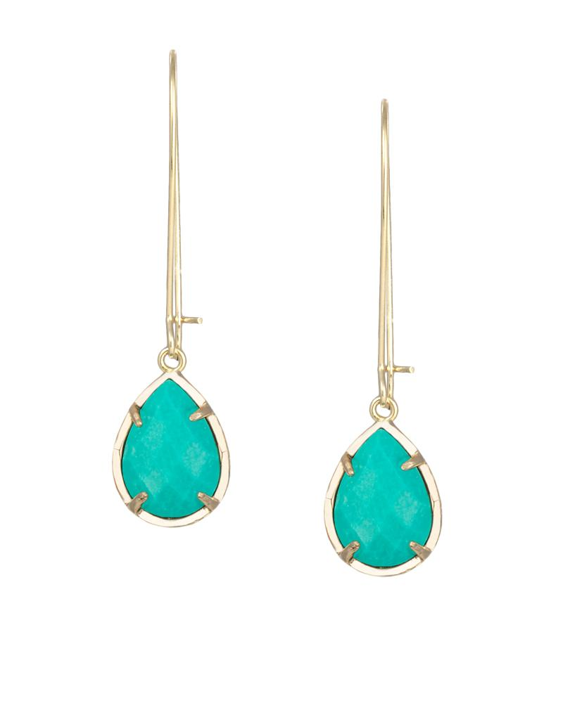 Dee Earrings In Teal