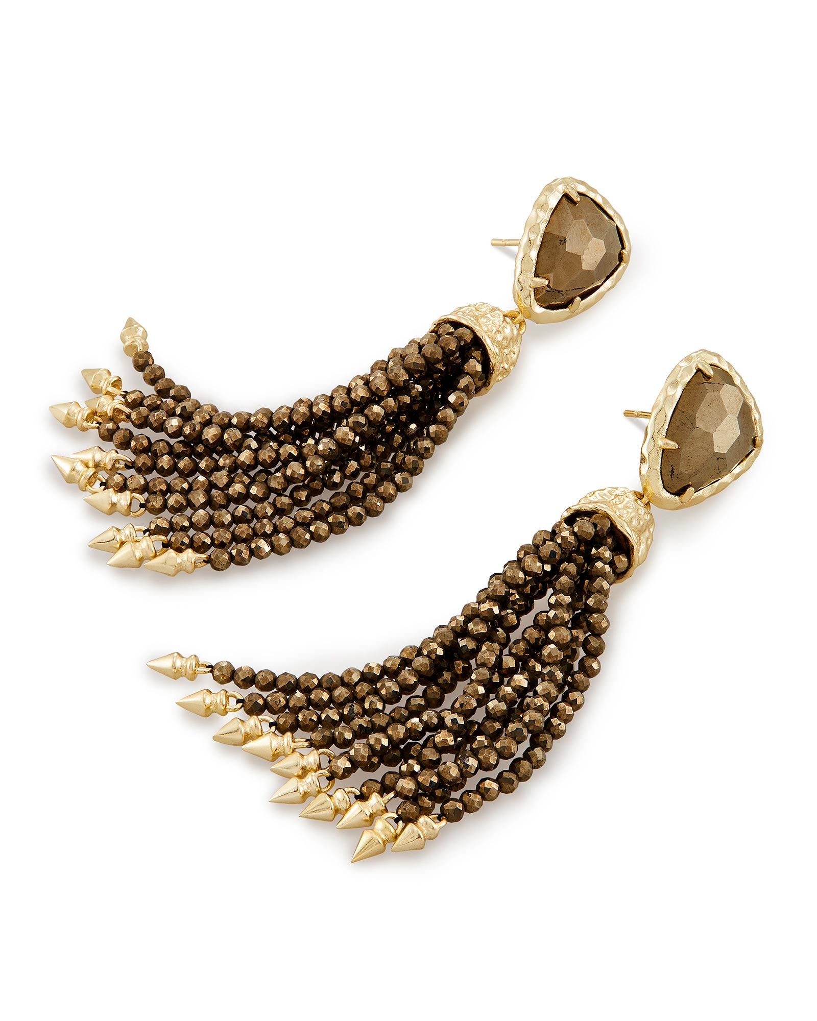 Blossom Statement Earrings in Pyrite