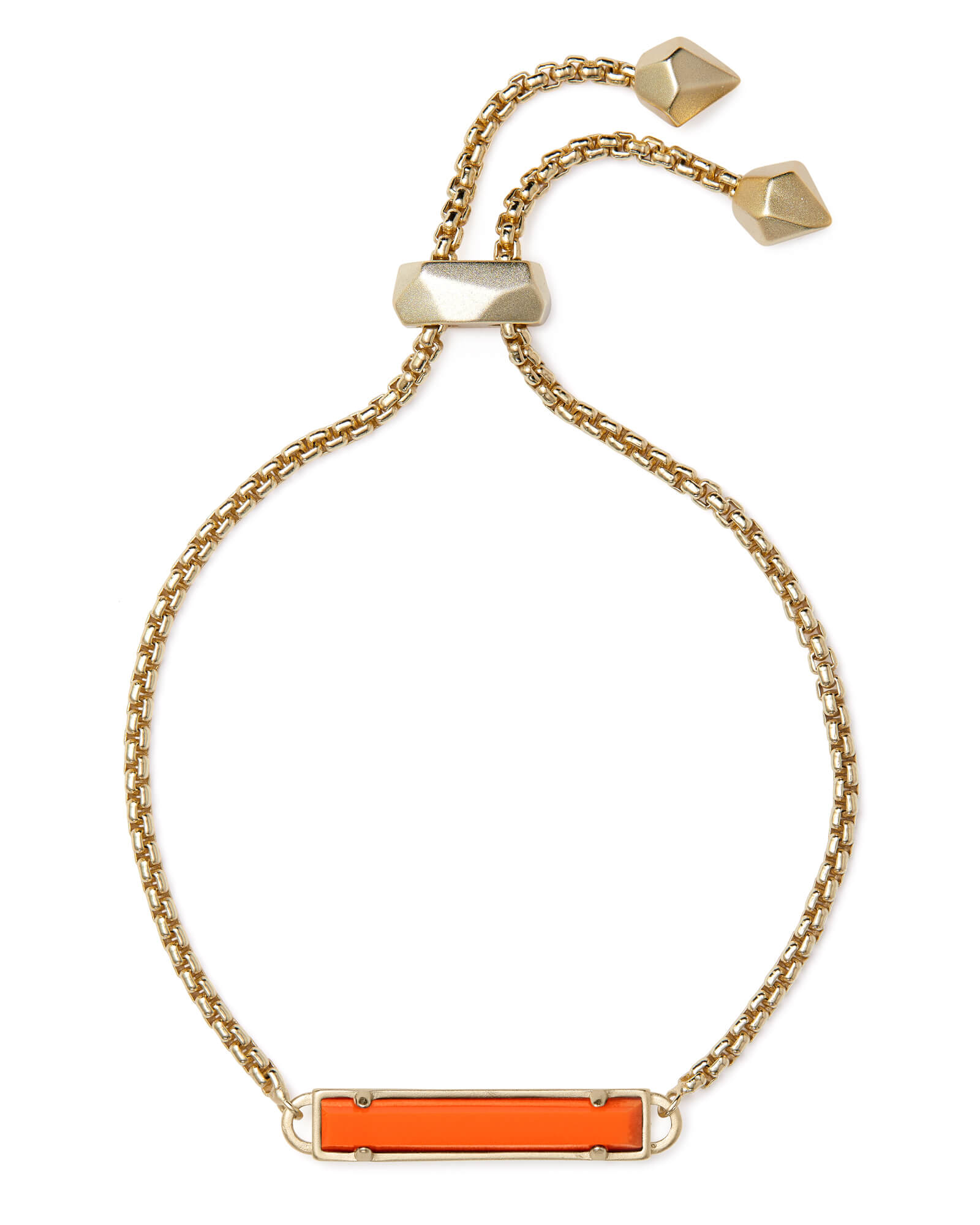 Stan Gold Chain Bracelet In Orange