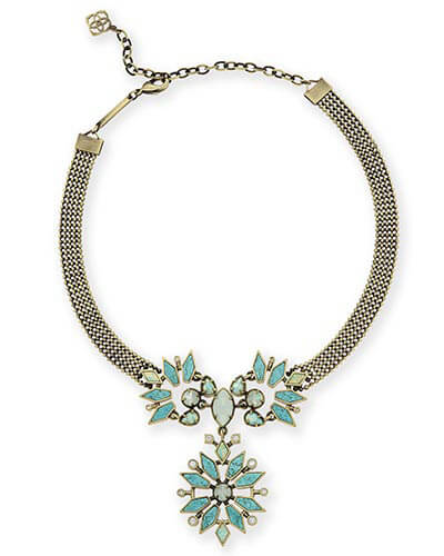 Isabella Choker Necklace in Turquoise Zellige