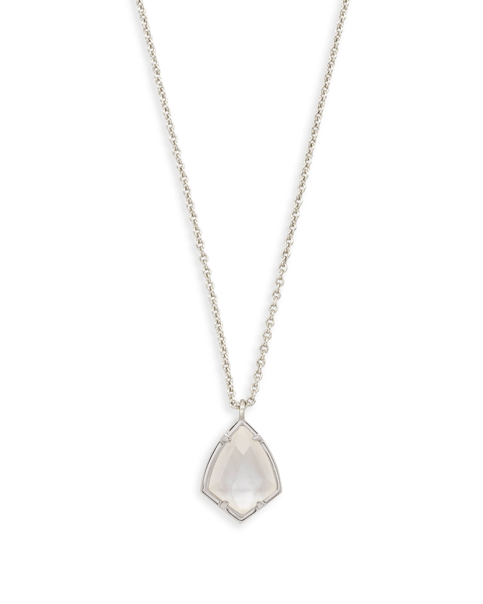 Cory Silver Pendant Necklace in Ivory Pearl