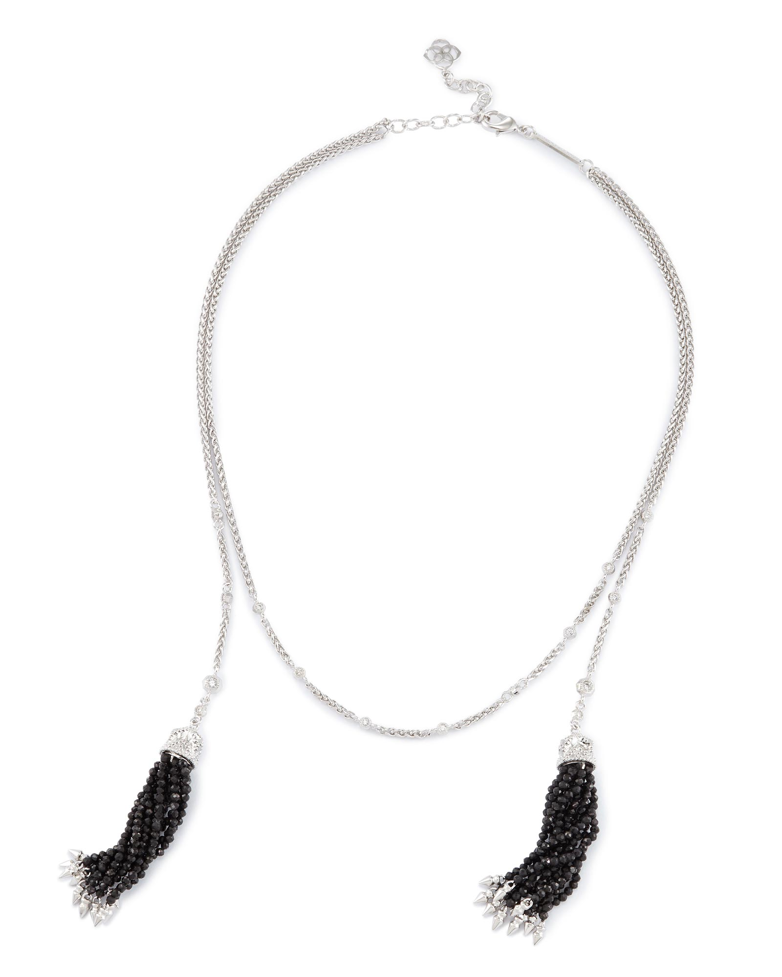 Monique Lariat Necklace in Black Pearl