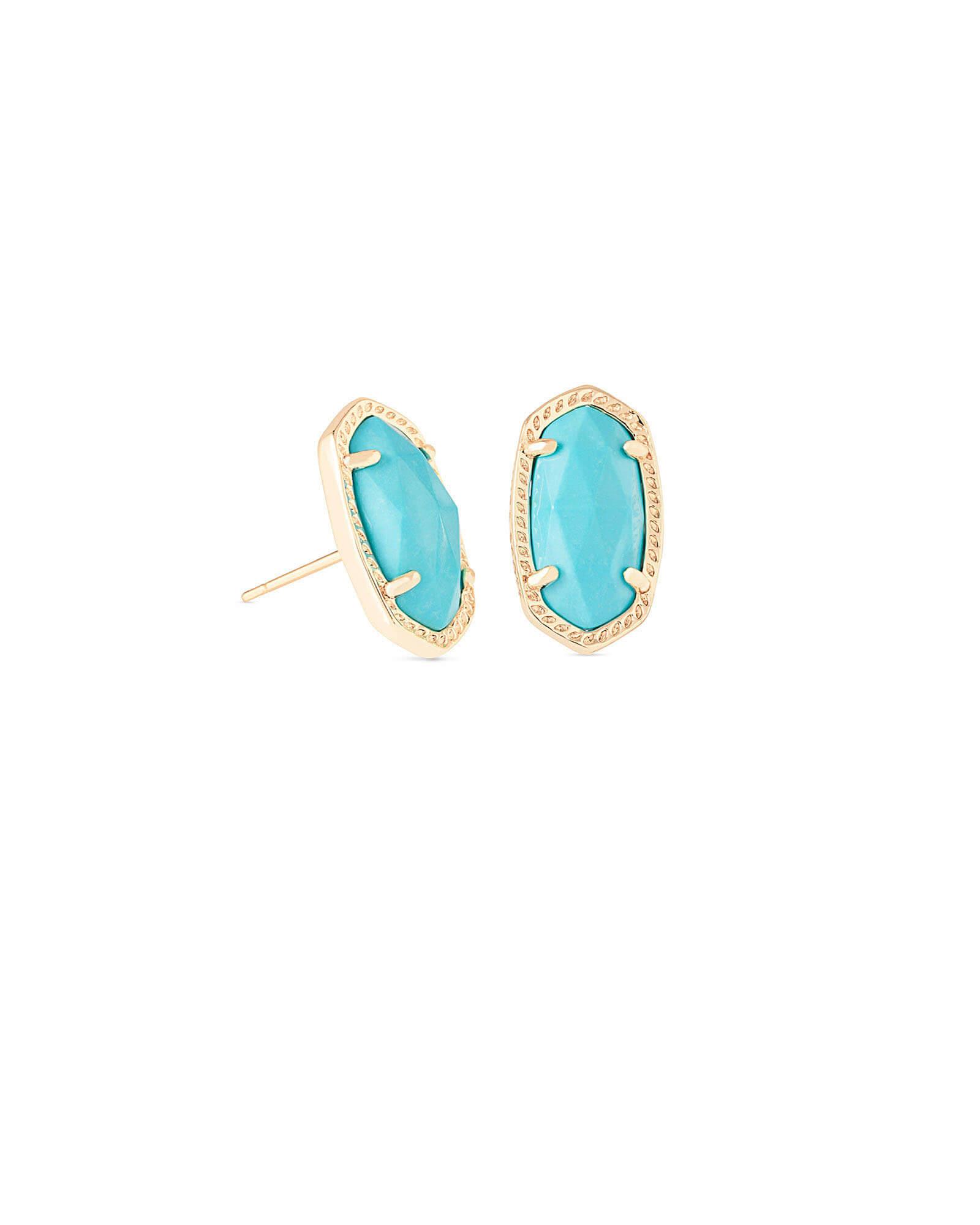 Ellie Stud Earrings In Turquoise