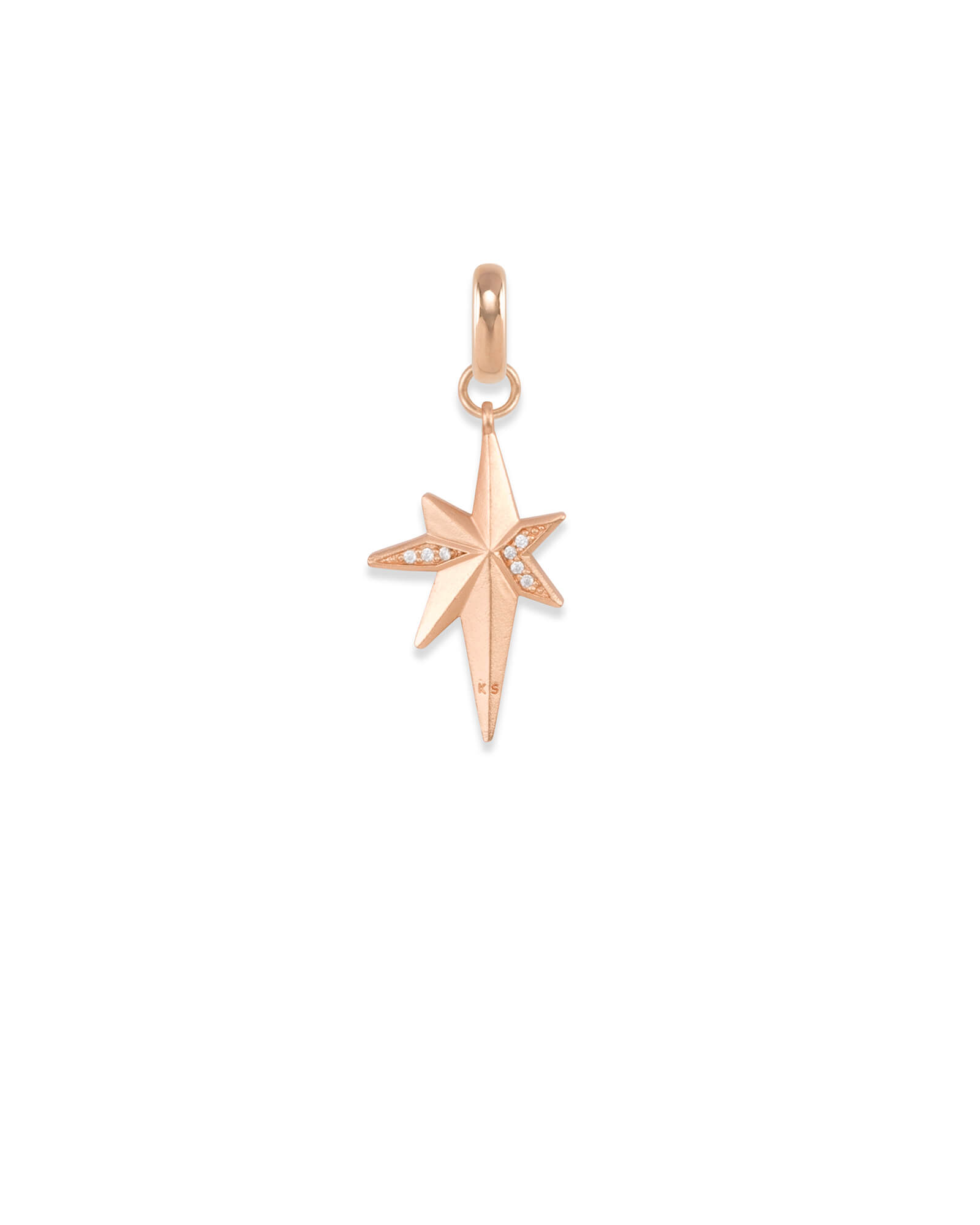 North Star Charm in Rose Gold