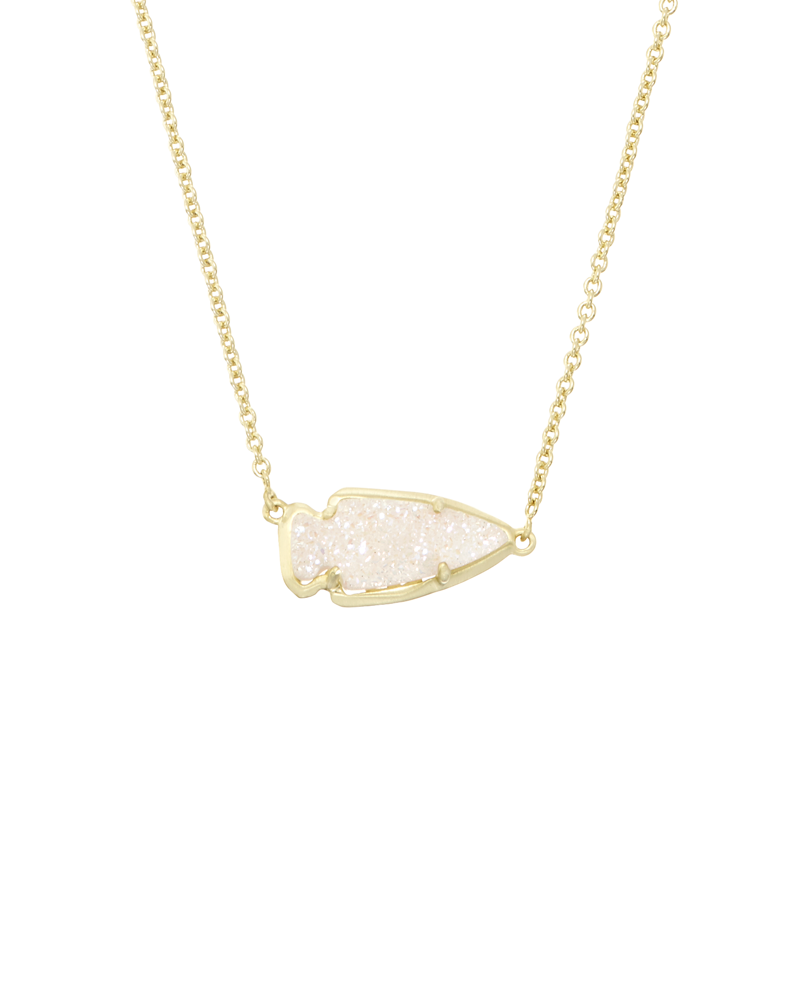 Kasey arrowhead pendant necklace in gold kendra scott kasey pendant necklace in iridescent drusy aloadofball Images