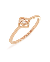 Fleur 14k Band Ring In White Diamond