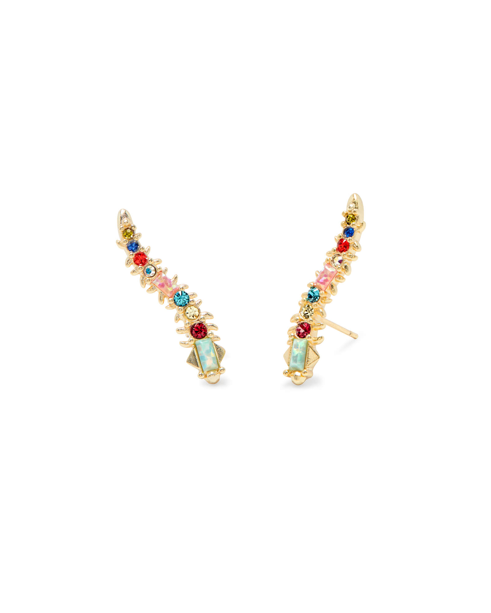 Sinclair Gold Ear Climbers In Multi Mix by Kendra Scott