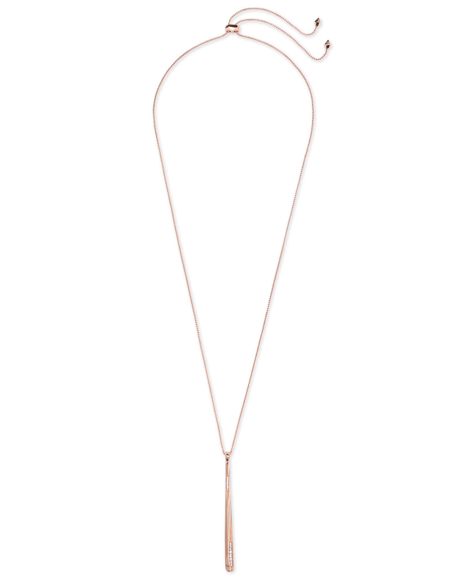 Ro Long Pendant Necklace In Rose Gold