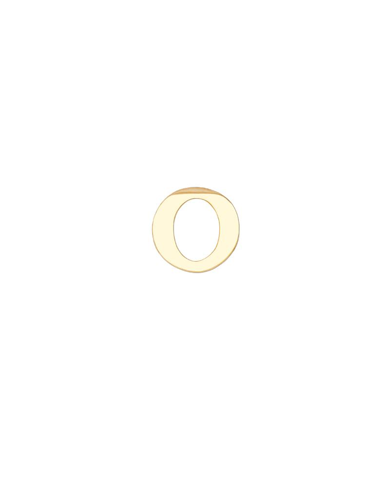 Greek Letter Omicron Charm - Gold