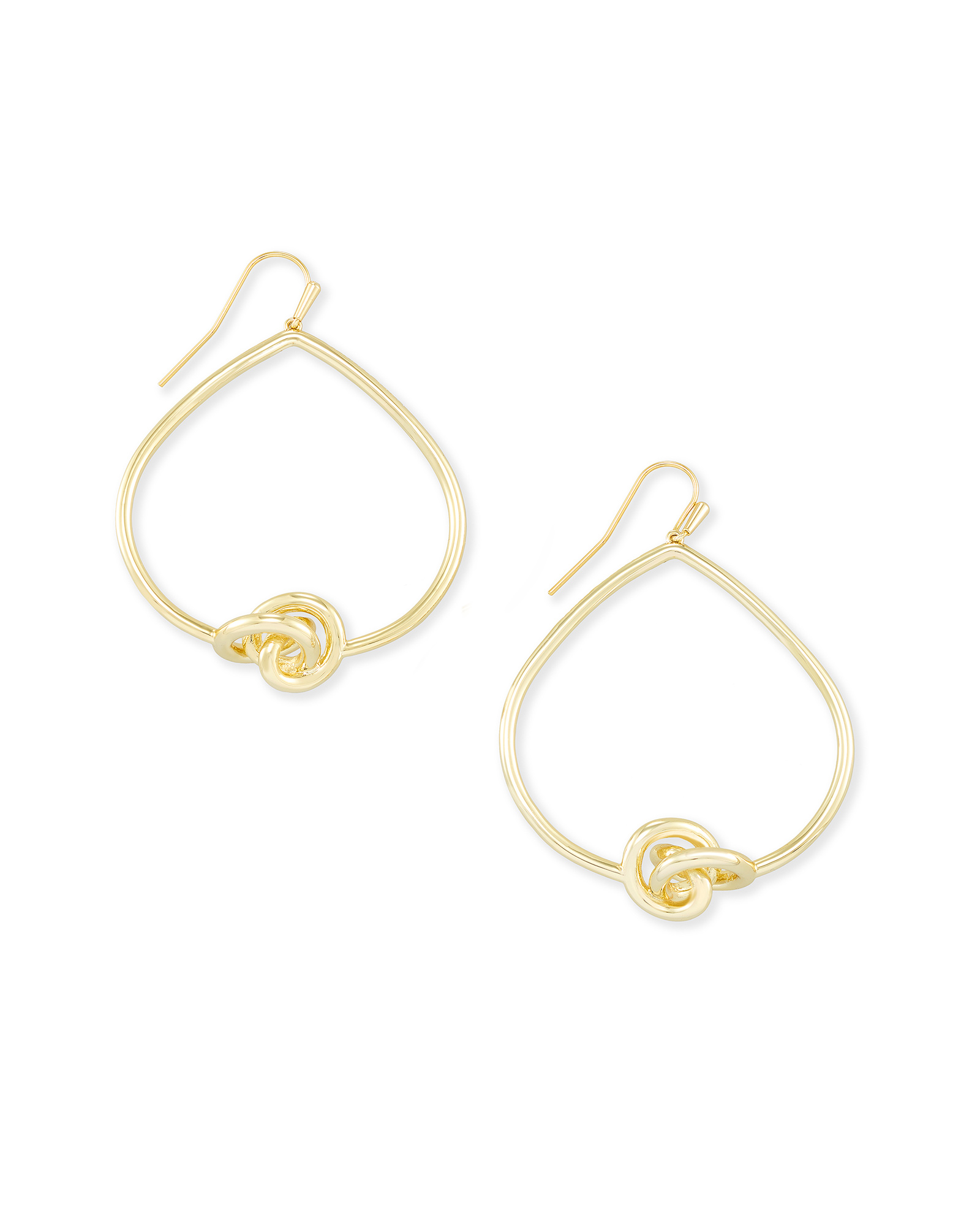 Presleigh Love Knot Open Frame Earrings in Gold