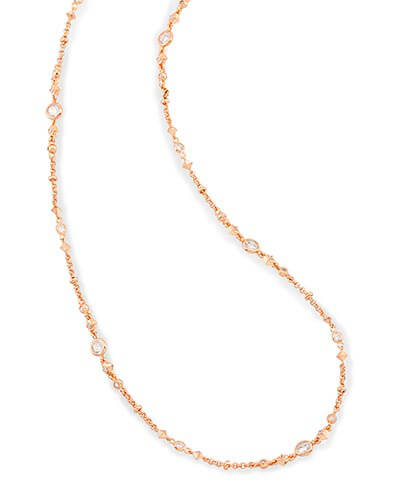 Dree Long Necklace in Rose Gold
