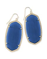 Danielle Earrings in Navy Cat's Eye