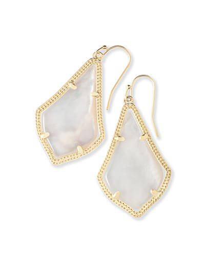 Alex Earrings in Ivory Pearl