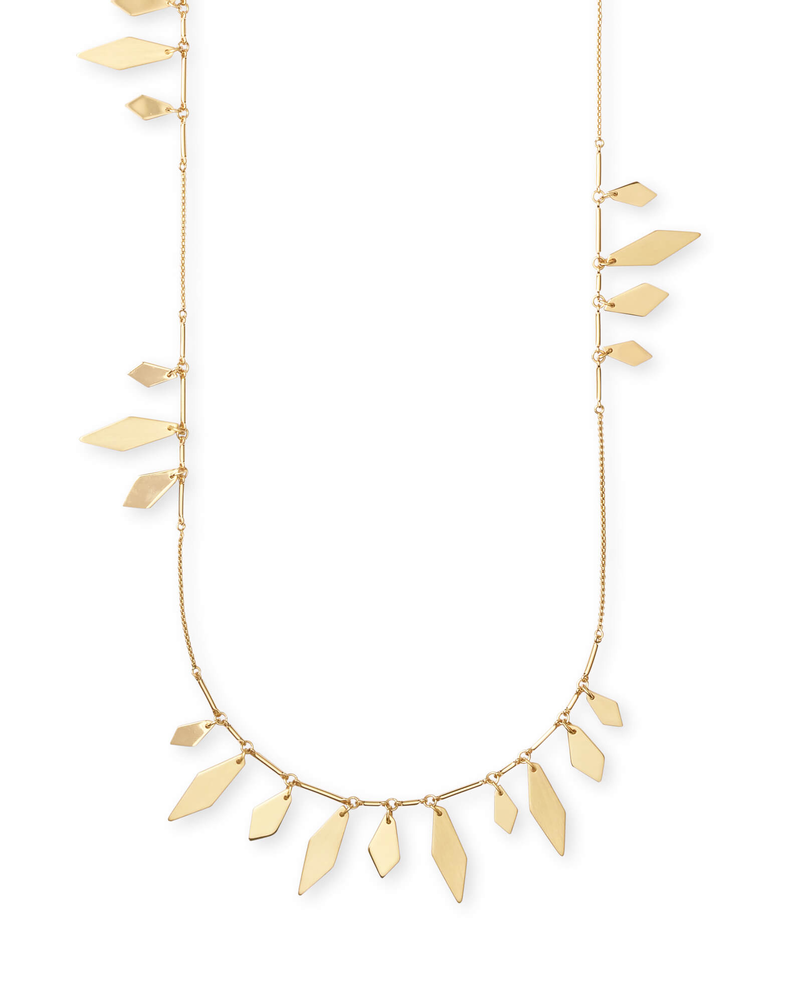 Blaine Long Necklace in Gold