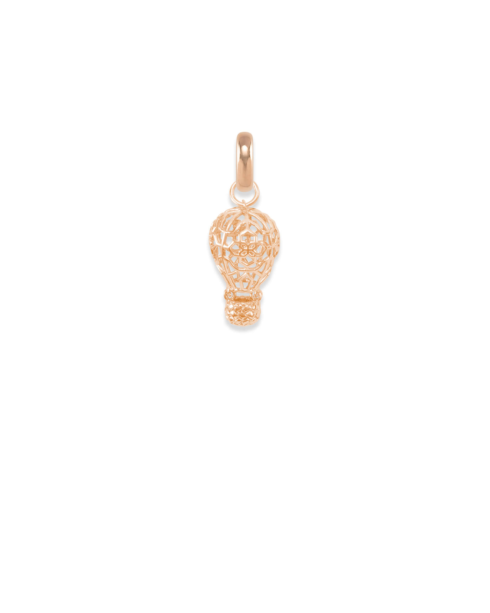 New Mexico Hot Air Balloon Charm in Rose Gold