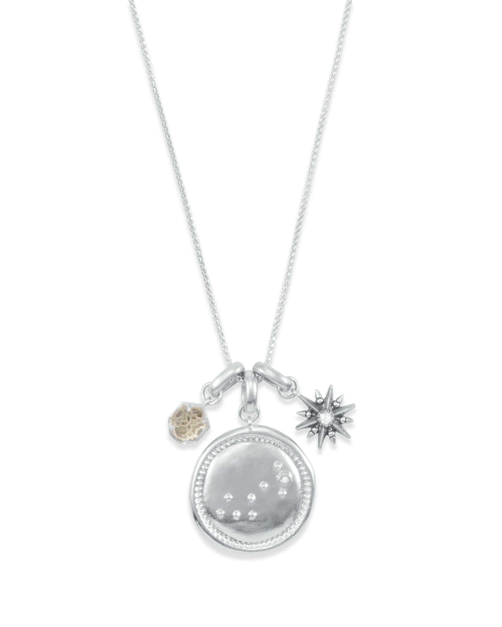 November Scorpio Charm Necklace Set in Silver