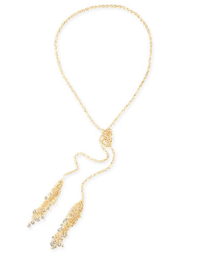 Sloan Lariat Necklace in Gold