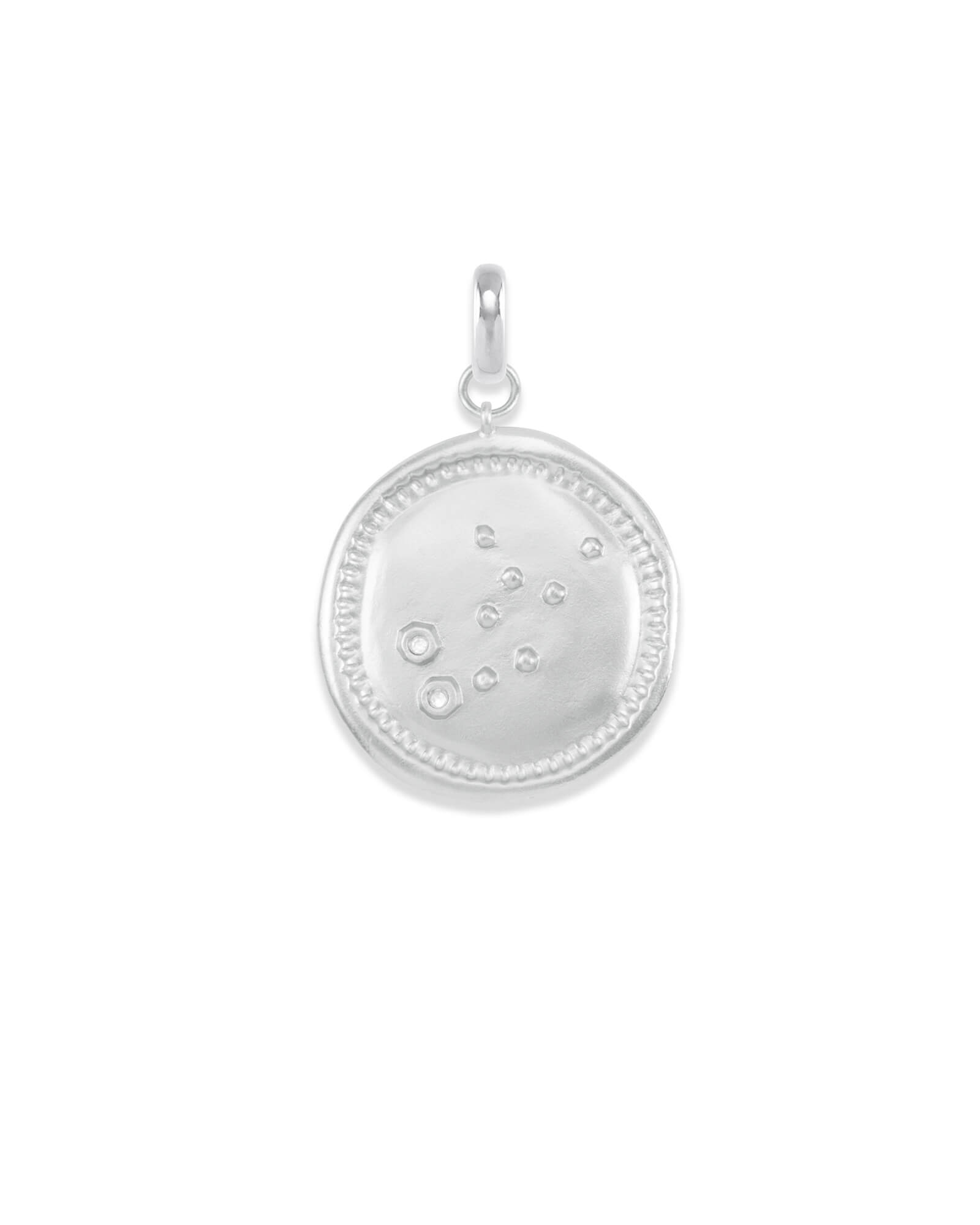Virgo Coin Charm in Silver