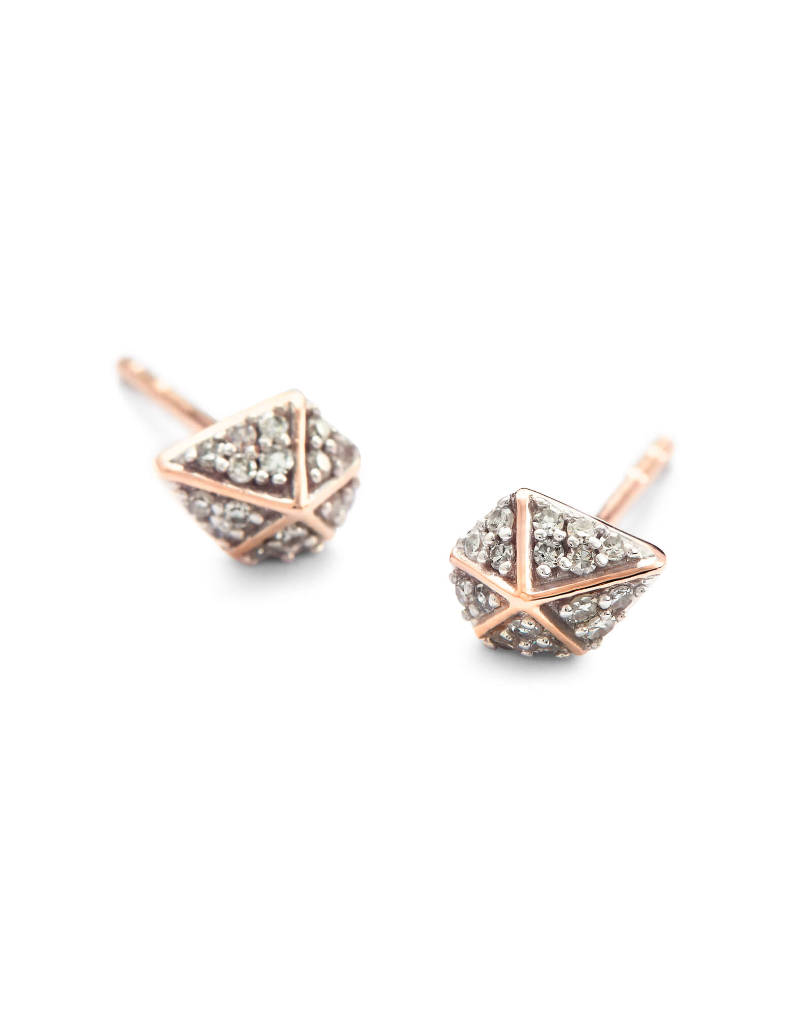 Manet Stud Earrings in White Diamond