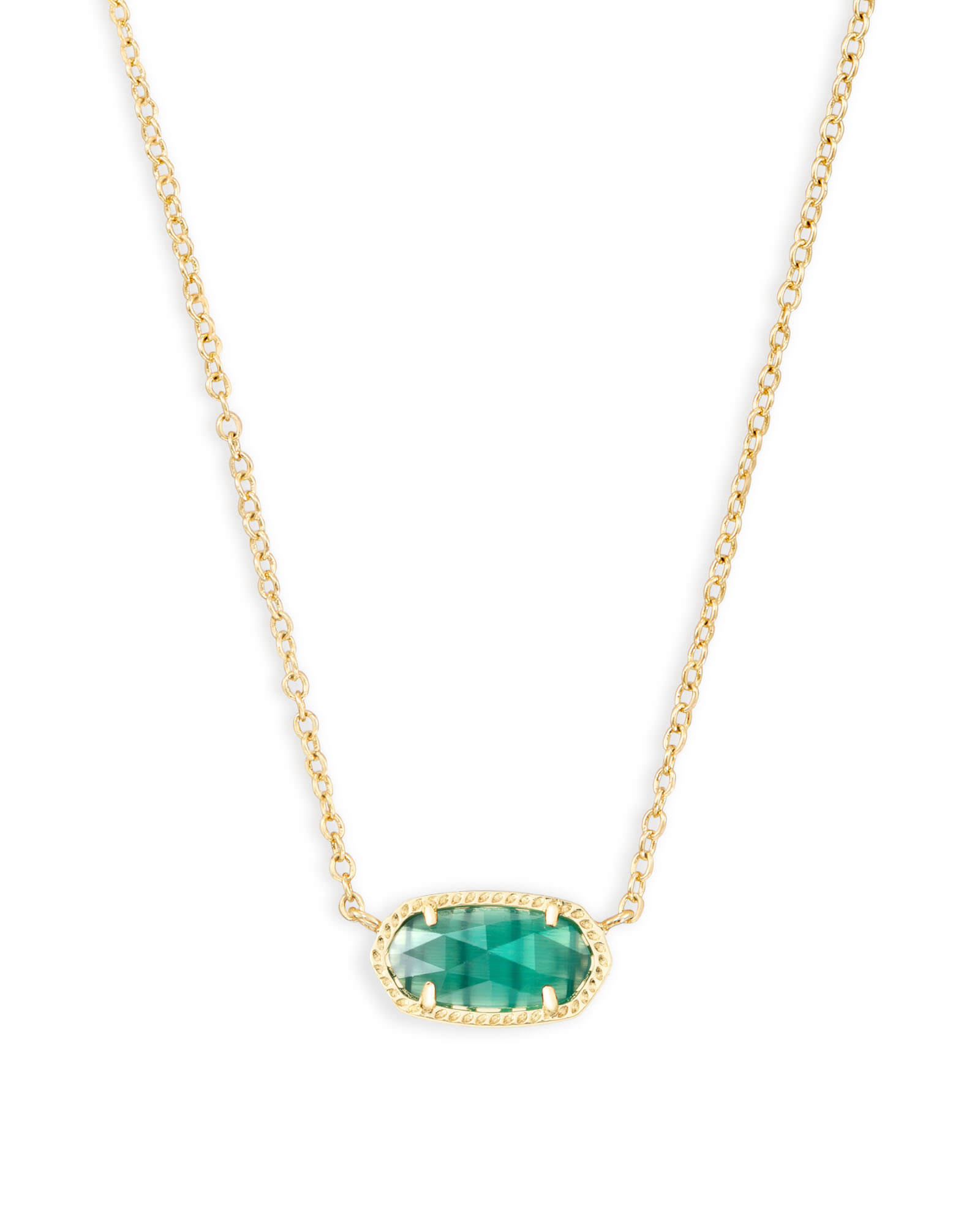 Elisa Gold Pendant Necklace In Emerald Green Kendra Scott