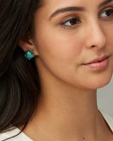 Ryan Gold Stud Earrings in Ivory Mother-of-Pearl
